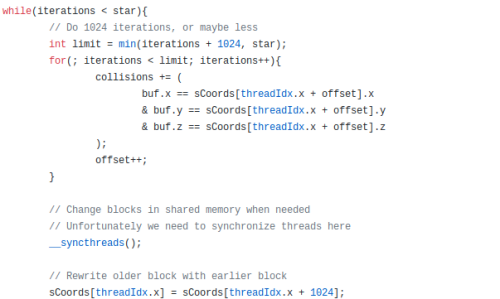 Snippet of code from ElfCudaLibs.