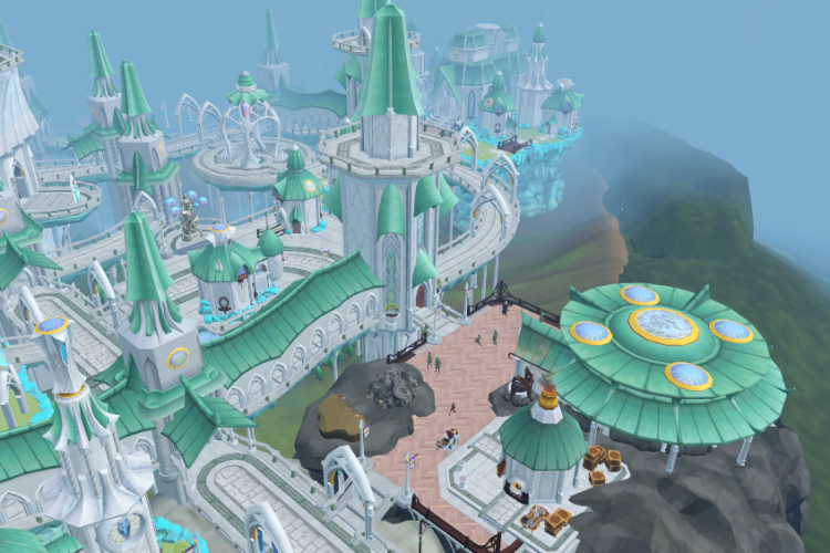 Image showing Prifddinas, a city of Runescape.