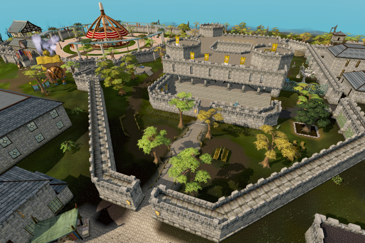 Image showing Varrock, a city of Runescape.