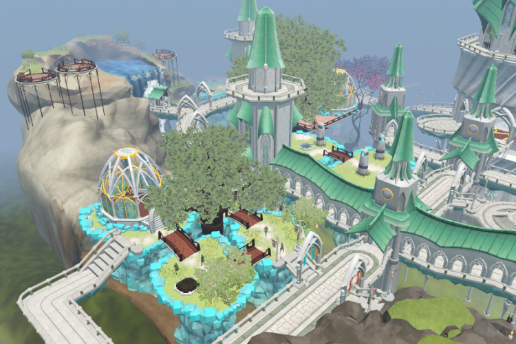 Section of Prifddinas, the city of Elves.